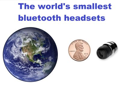 the world's smallest bluetooth headsets