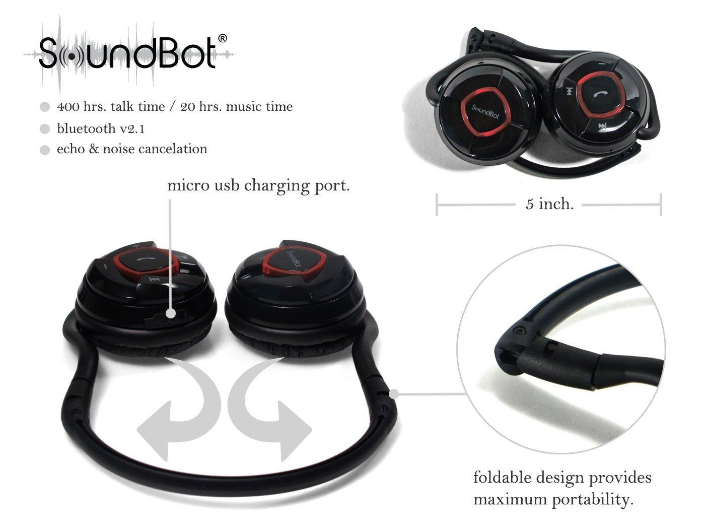 soundbot sb240 kermes bluetooth wireless headphones review. Black Bedroom Furniture Sets. Home Design Ideas