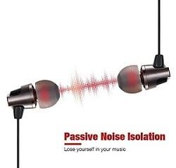 AudioMAX EM-7 Premium Noise-Isolating In-Ear Headphones