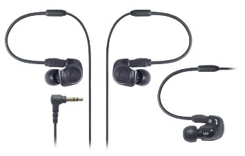 Audio technica inear monitor earphones - earphones extension with volume