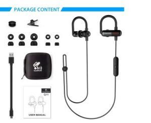 soundpeats q11 bluetooth 4.1. earbuds v3