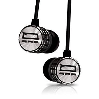 Earbuds volume control - metal earbuds silver