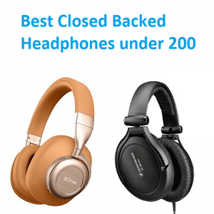 Best Closed Backed Headphones under 200