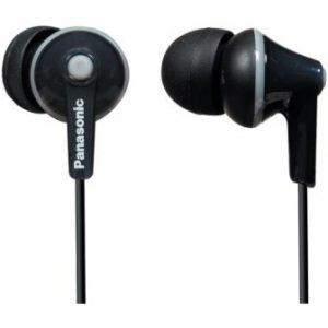 Panasonic RP-HJE120-PPK In-Ear Stereo Earphones, Black