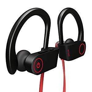 Otium Best Wireless Sports Earphones w/ Mic IPX7 Waterproof