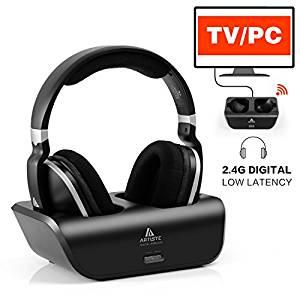 ARTISTE Wireless Headphones for TV with RF Transmitter