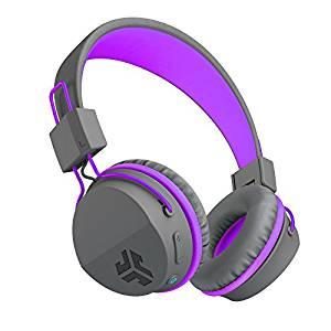 JLab Audio JBuddies Studio Bluetooth Wireless Headphones – Gray / Purple