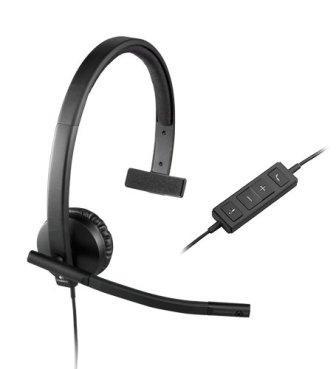 Logitech USB H570e Corded Single Ear Headset