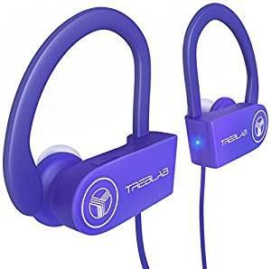 TREBLAB XR100 Bluetooth Sport Headphones – Purple