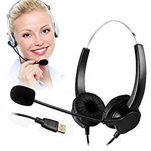 TelPal Corded USB Headset