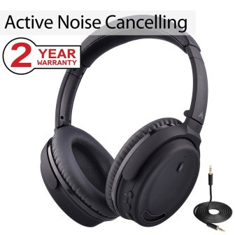 Avantree Active Noise Cancelling Bluetooth 4.1 Headphones with Mic