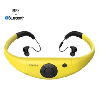 Tayogo 8GB Waterproof MP3 Player with Headphones