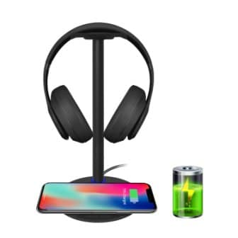 New Bee Headset Holder cum Wireless Charger Pad