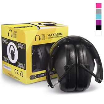 Pro For Sho Safety Ear Protection – Special Designed Ear Muffs Lighter Weight & Maximum Hearing Protection