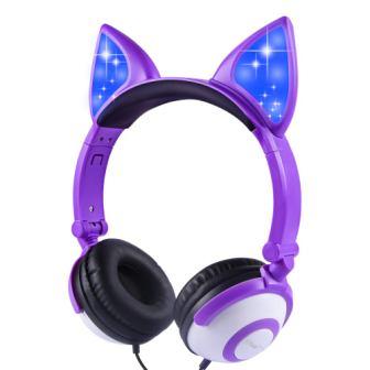 Esonstyle Kids Headphones with Glowing Cat Ears