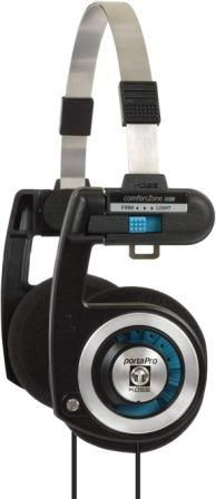 Koss Porta Pro On-Ear Fashion Headphones (Black / Silver)