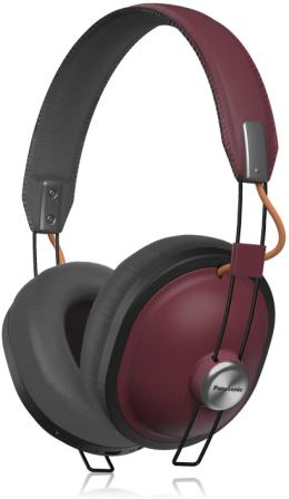 Panasonic RP-HTX80B-R Retro Wireless Over the Ear Headphones (Sangria)