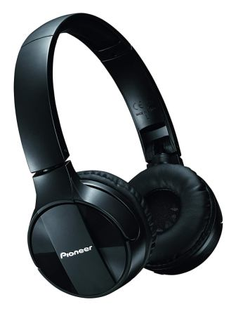 Pioneer Bluetooth Lightweight Wireless Stereo Headphones SE-MJ553BT(K)