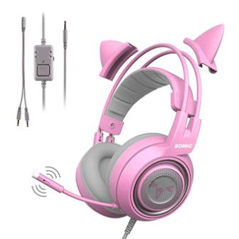 SOMIC Pink Stereo Gaming Headset