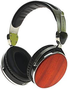 Symphonized Wraith Premium Genuine Wood Wired Headphones (Cherry Finish)