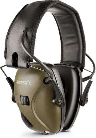 Awesafe Electronic Noise Reduction EarMuffs NRR 22dB