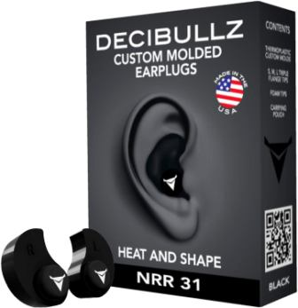 Decibullz Custom Molded Earplugs 31dB NRR