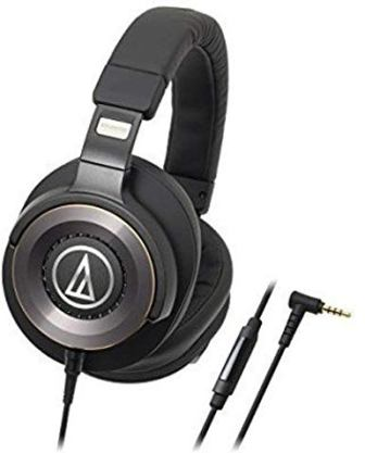 Audio Technica Over Ear Solid Bass Headphones with Controls and In-Line Mic (ATH-WS1100iS)