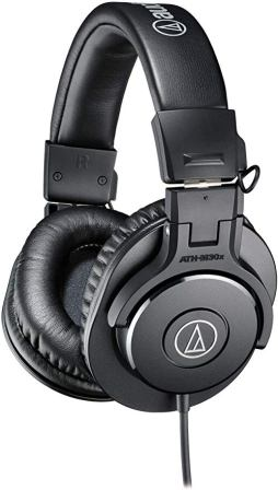 Audio Technica Professional On Ear Monitoring Headphones (ATH-M30x)