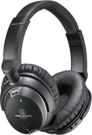 Audio Technica QuietPoint Noise Cancelling On Ear Headphones (ATH-ANC9)
