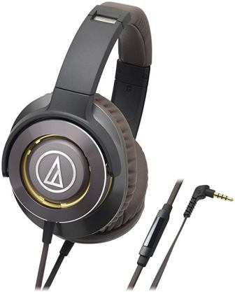 Audio Technica Solid Bass Gunmetal Over Ear Headphones (ATH-WS770iSGM)