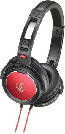 Audio Technica Solid Bass Red Over-Ear Headphones (ATH-WS55BRD)