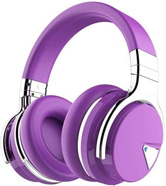 Cowin E7 Active Noise Cancelling Purple Bluetooth Headphones