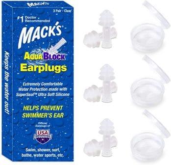 Mack's AquaBlock Swimming Ear Plugs